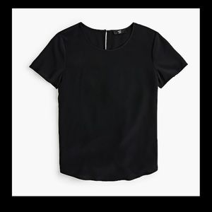 🆕 J. Crew Re-Imagined Silk Short Sleeve Tee